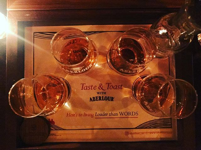 This dram is for @dongillespie, who I was lucky enough to join for a tasting at the @aberlour distillery last year. Thanks to NY papi @milsquire for the invite and @aberlour_us for the trip down memory lane.