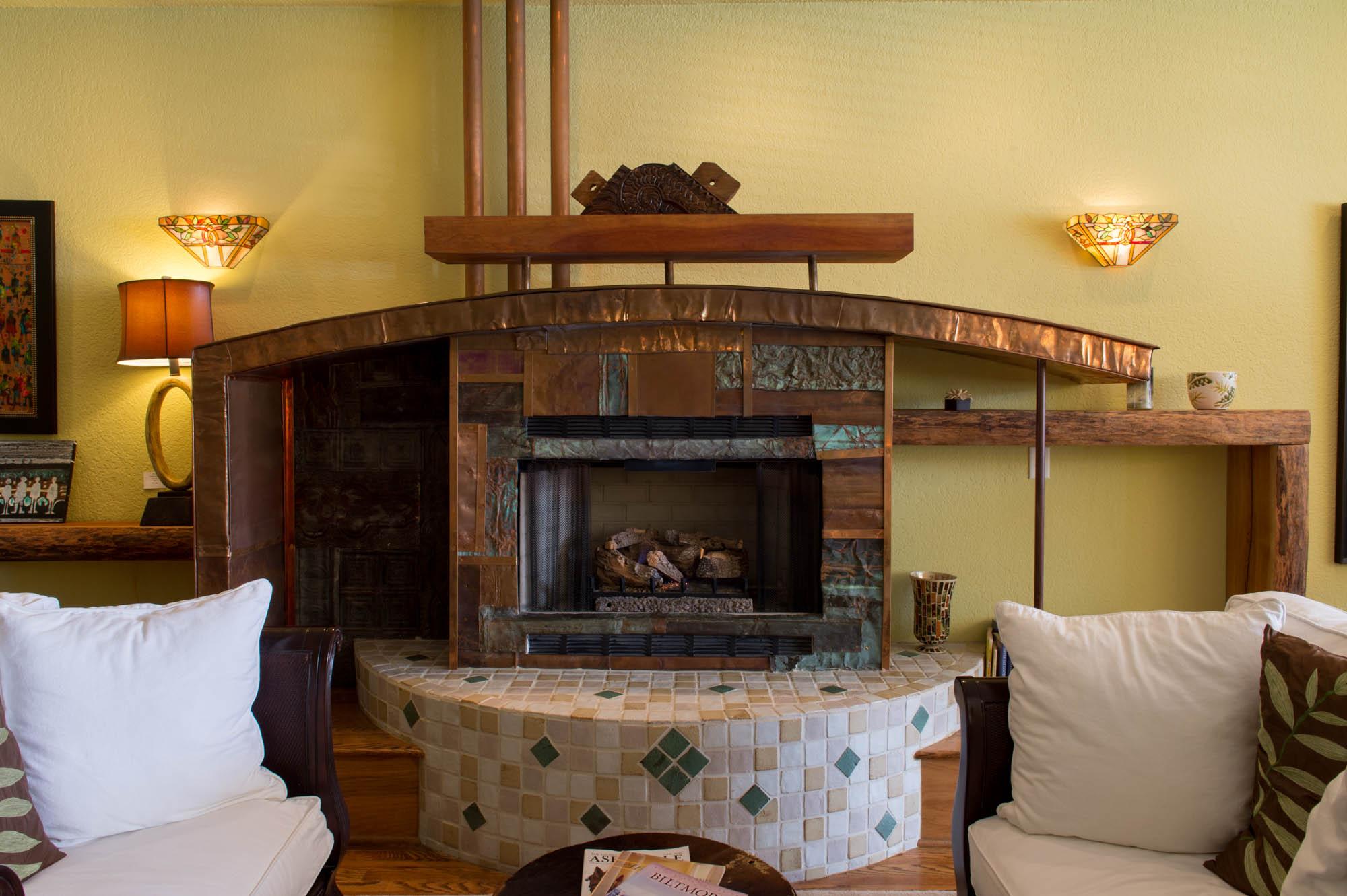 Custom Copper Surround Fireplace