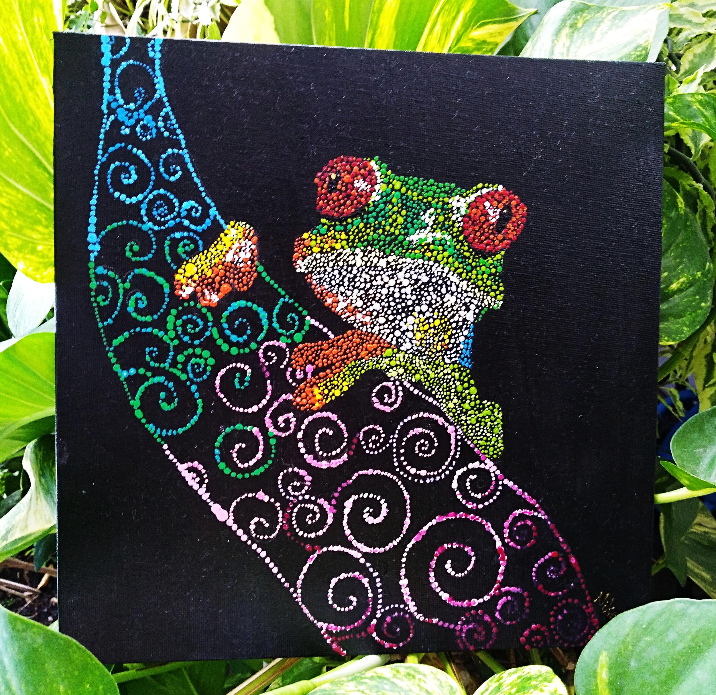 Polka Dots Tree Frog    Artist : Shermine Soo  Instagram :  @shermine_art