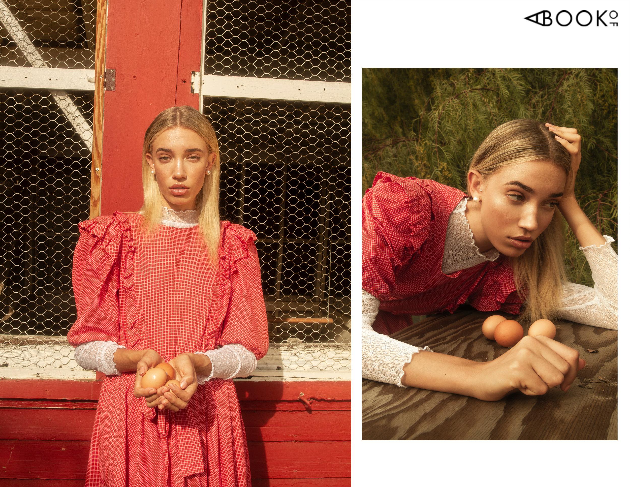Dress: Vintage. Turtleneck: Topshop, Shoes: Sam Edelman