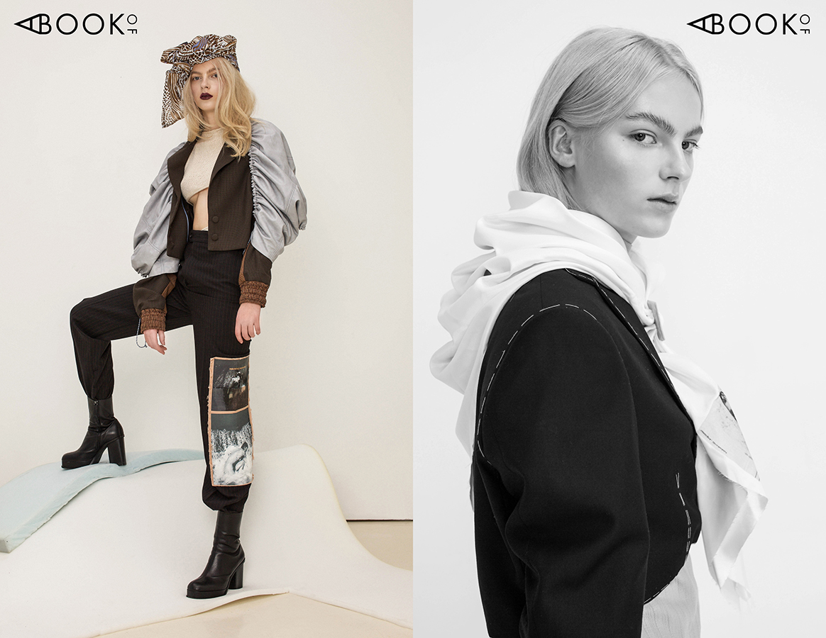 Left:  Jacket - Urte Vosyliute, Jumper - Urte Vosyliute, Scarf - Kotryna Lipkeviciute, Trousers - Urte Katiliute, Shoes - COS   Right:  Jacket - Urte Katiliute design, Scarf - Urte Katiliute design, Blouse - Kotryna Lipkeviciute