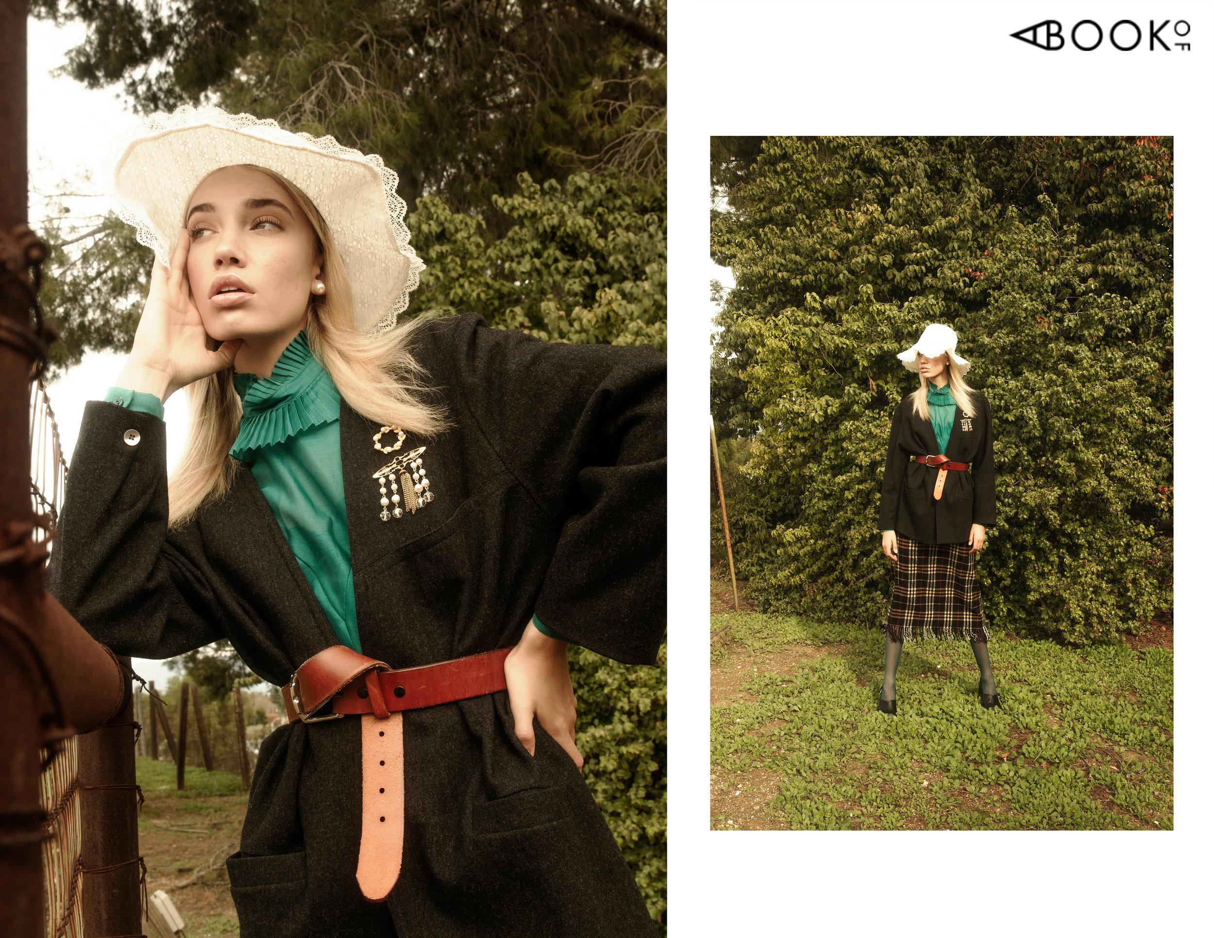 Blouse: Vintage, Blazer: Vintage, Hat: Vintage, Skirt: Vintage, Shoes: Marc Fisher LTD