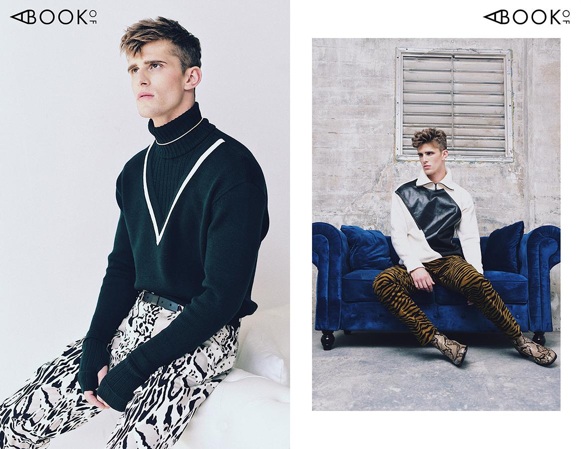 LEFT:  Turtleneck -  Givenchy , Pants -  Roberto Cavalli , Belt -  Lanvin   RIGHT:  Sweater - Givenchy, Pants -  Bottega Veneta , Boots -  Dries Van Noten