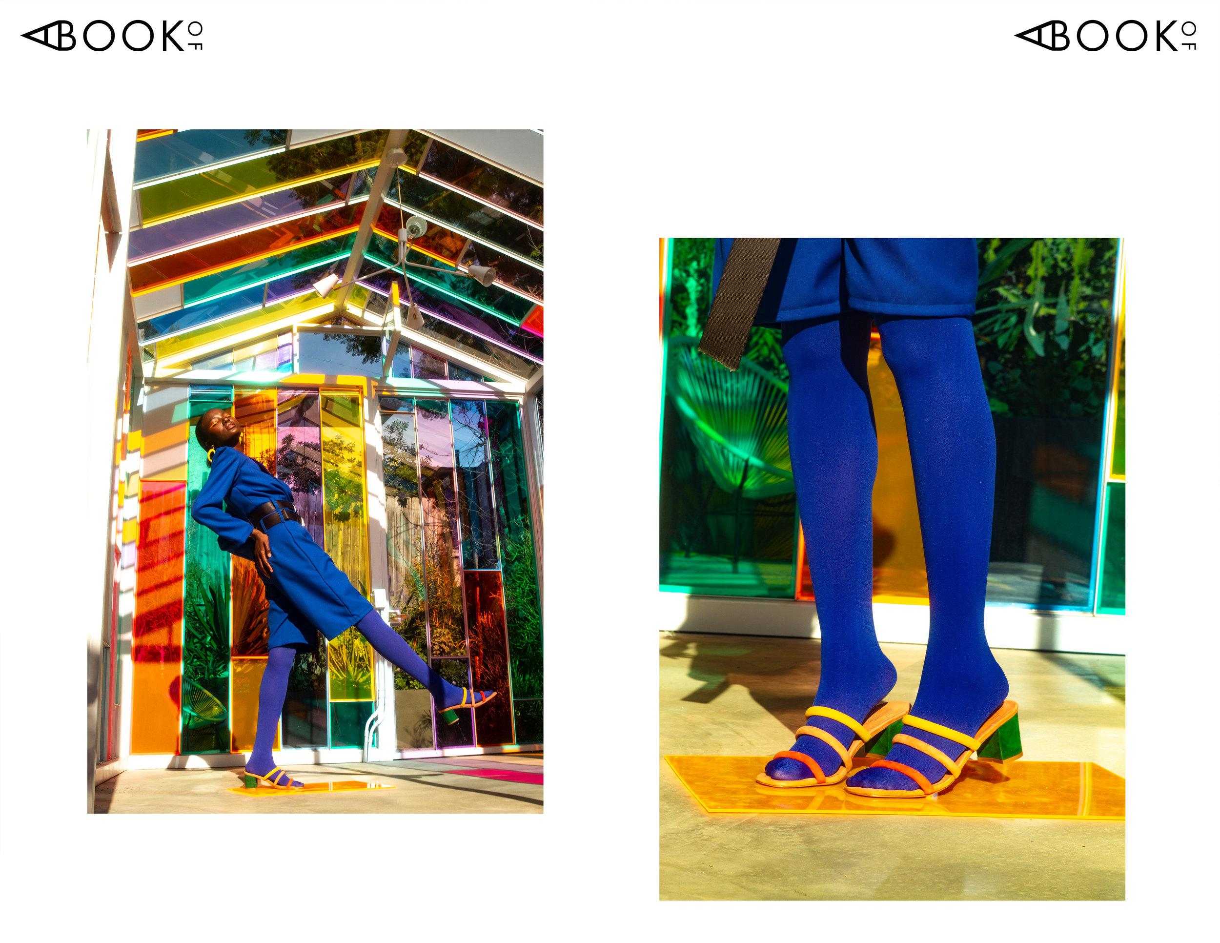 Top: KSLAM | Shorts: KSLAM | Shoes: Charlotte Stone | Earrings: Jax Atelier