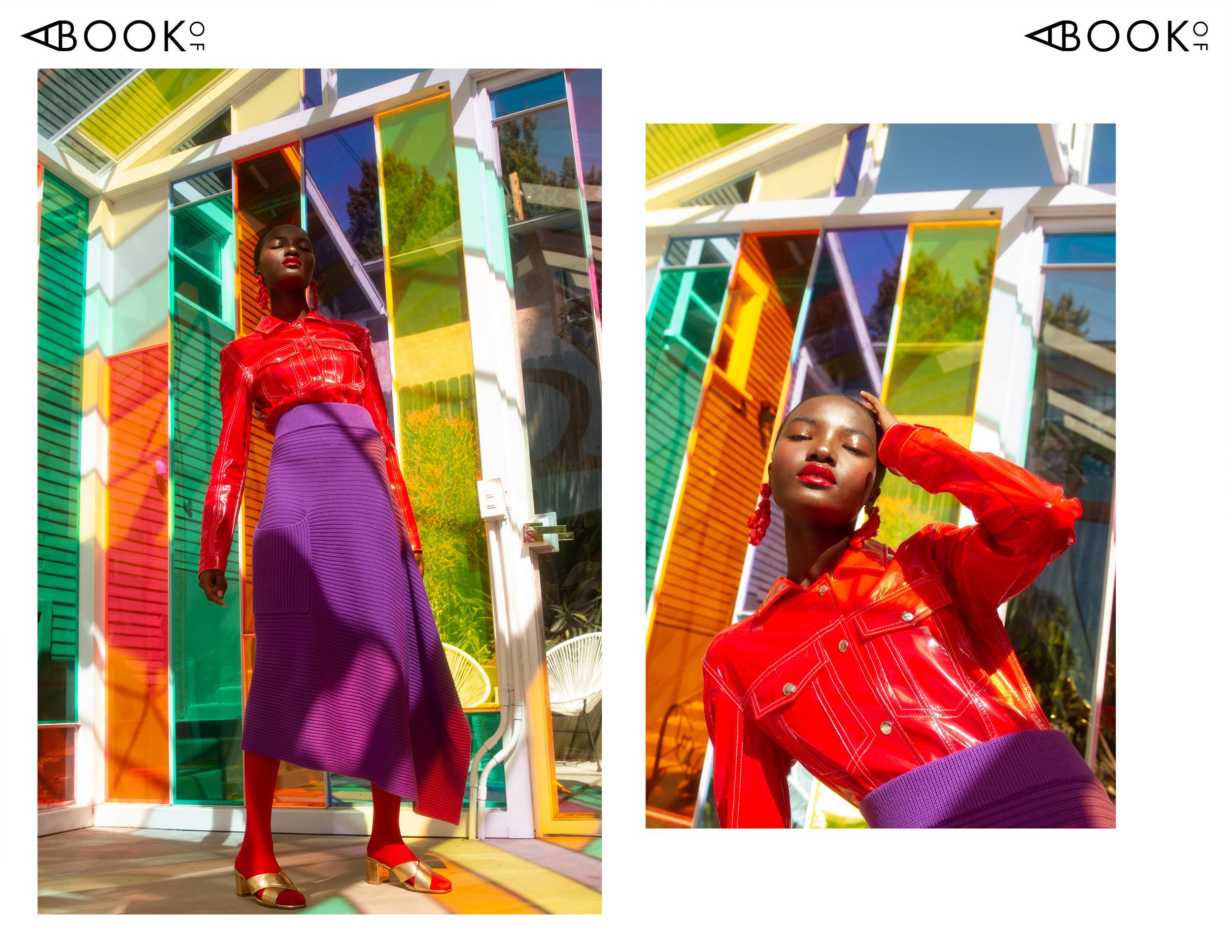 Jacket: Stinson Haus | Skirt: Tibi | Shoes: Charlotte Stone | Earrings: J.Crew