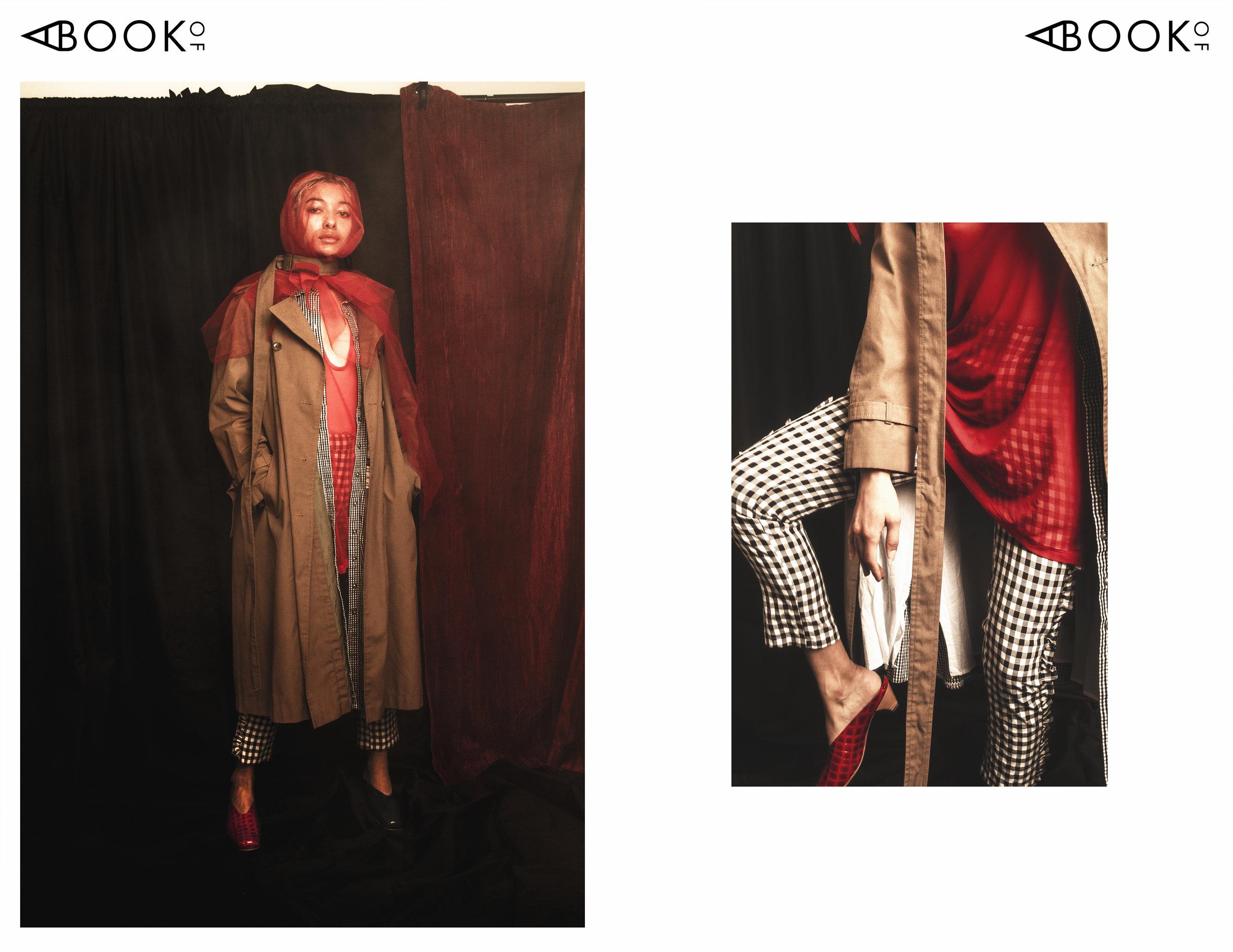 Top: Yori Collection, Dress: Talbots, Coat: Vintage, Pants: Alpha & Omega, Shoes: Louise Bridge