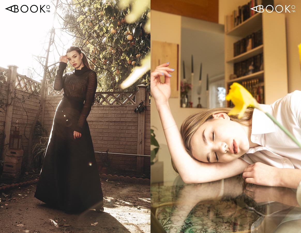 Left, Top: Lotuz, Bottom: Silvana Tedesco, Shoes: Nowpr | Right, Dress: Lotuz
