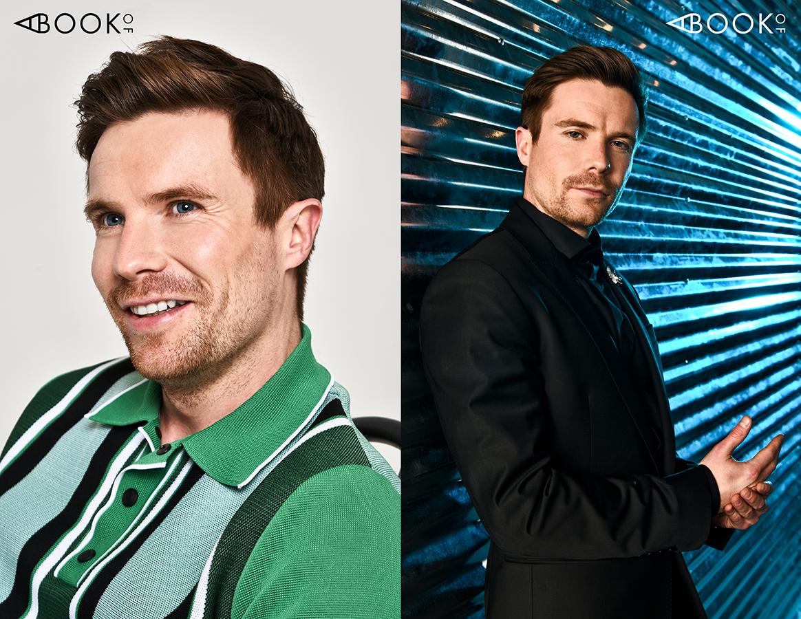 LEFT:  Shirt: Bally RIGHT: Shirt & Suit: Philip Plein