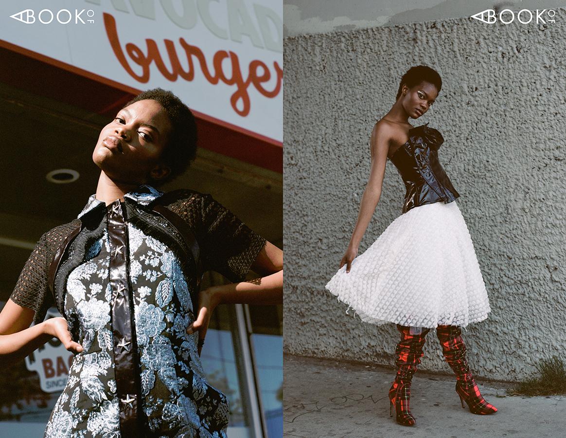 LEFT:  Dress: Ashley Isham RIGHT: Top: Chase Denham, Skirt: Luxury by Feyi, Boots: Malan Breton