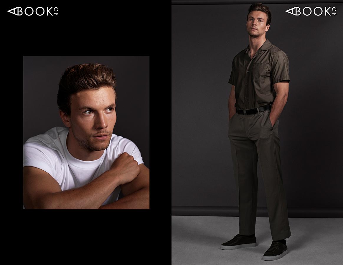 LEFT:  Shirt: SANDRO  RIGHT:  Shirt: ARKET, Pants: COS, Belt: BERLUTI, Shoes: AXEL ARIGATO