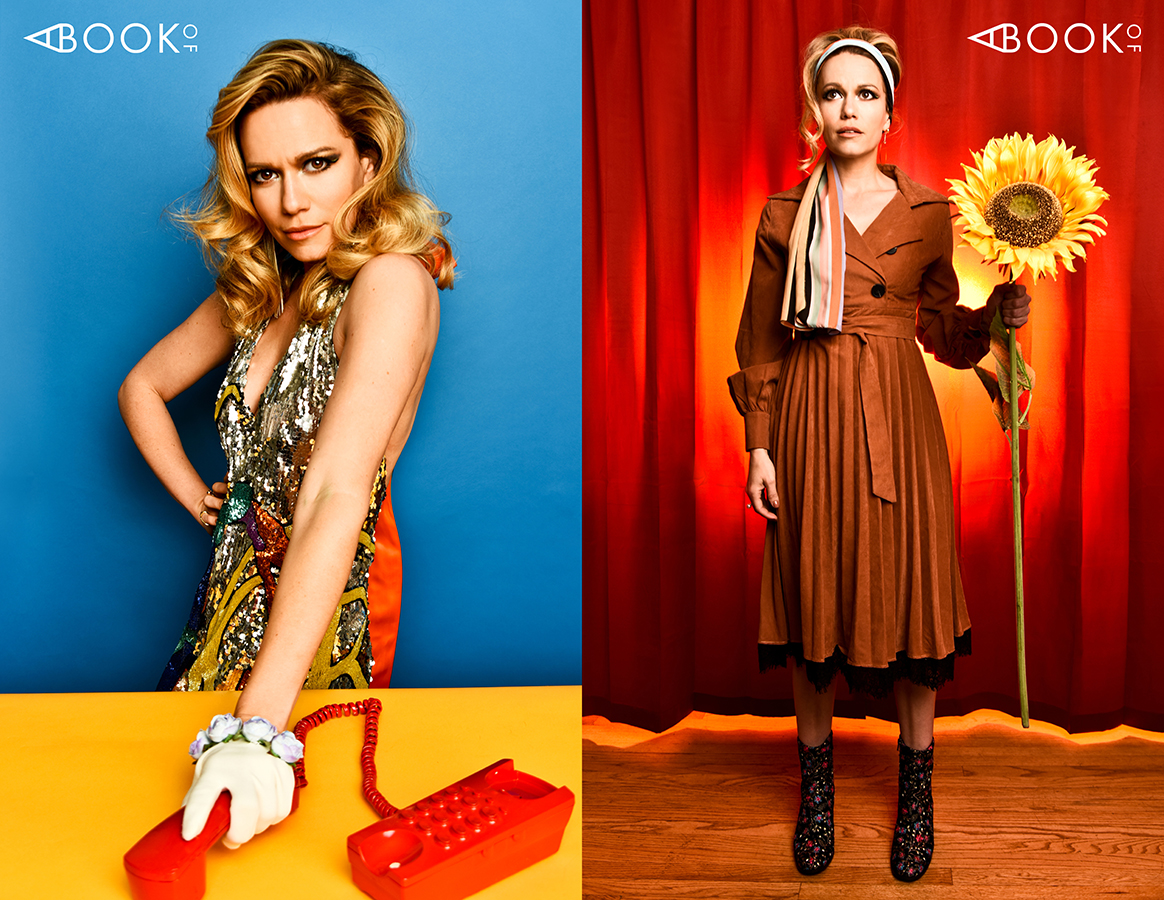 LEFT:  Dress: CHARLES & RON, Earrings: IRIS TRENDS, Gloves: KERRY PARKER, Rings: JOIA, Shoes: LAUREN LORRAINE  RIGHT : Dress: T'AIME, Scarf: CHARLES & RON, Shoes: VALENTINA RANGONI, Earrings: ALDO, Rings: JOIA