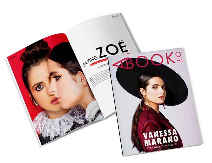 LAURA AND VANESSA MARANO [SAVING ZOË] — A BOOK OF MAGAZINE