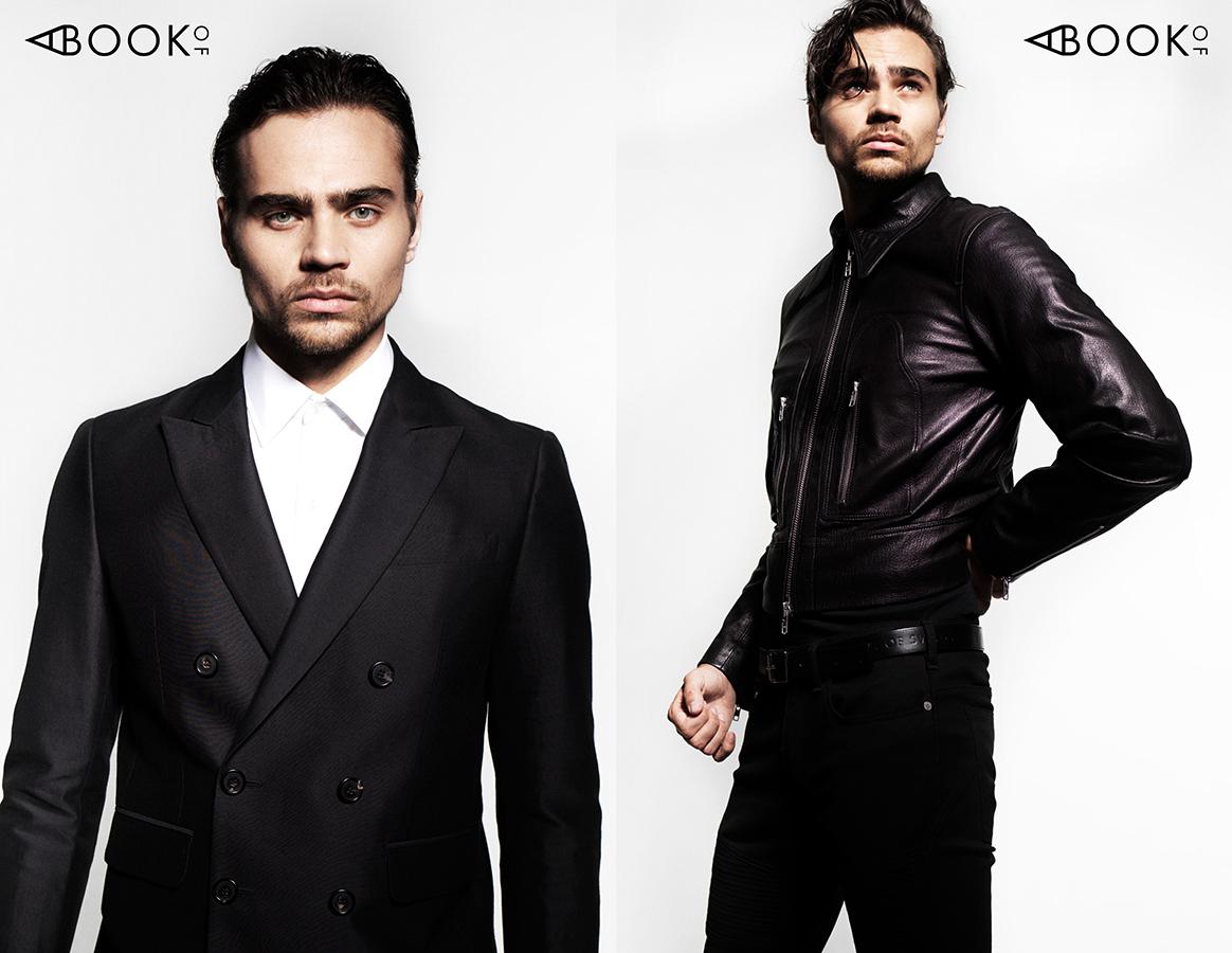 LEFT:  Blazer: DSQUARED2, Shirt: EMMA WILLIS  RIGHT:  Jacket & Belt: TIGER OF SWEDEN, Pants: NEIL BARRETT