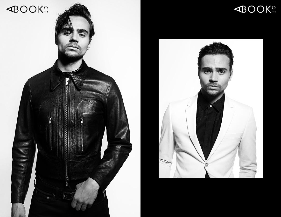 LEFT:  Jacket & Belt: TIGER OF SWEDEN, Pants: NEIL BARRETT  RIGHT:  Suit: TIGER OF SWEDEN, Shirt: BERLUTI