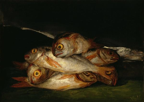 Fig 1.  Goya,  Still Life with Golden Bream , 1808