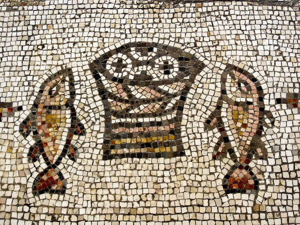 Fig 5.  Early Christian Fish mosaic (c. 3rd century AD)