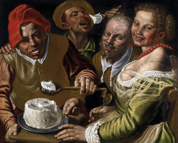 Fig 8.  Vincenzo Campi,  The Cheese Eaters , c.1580