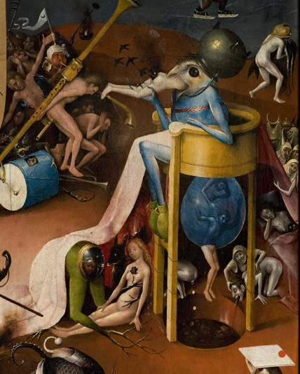Fig. 15 Hieronymous Bosch,  Hell  (detail) from the  Garden of Earthly Delights Triptych , c. 1510 .
