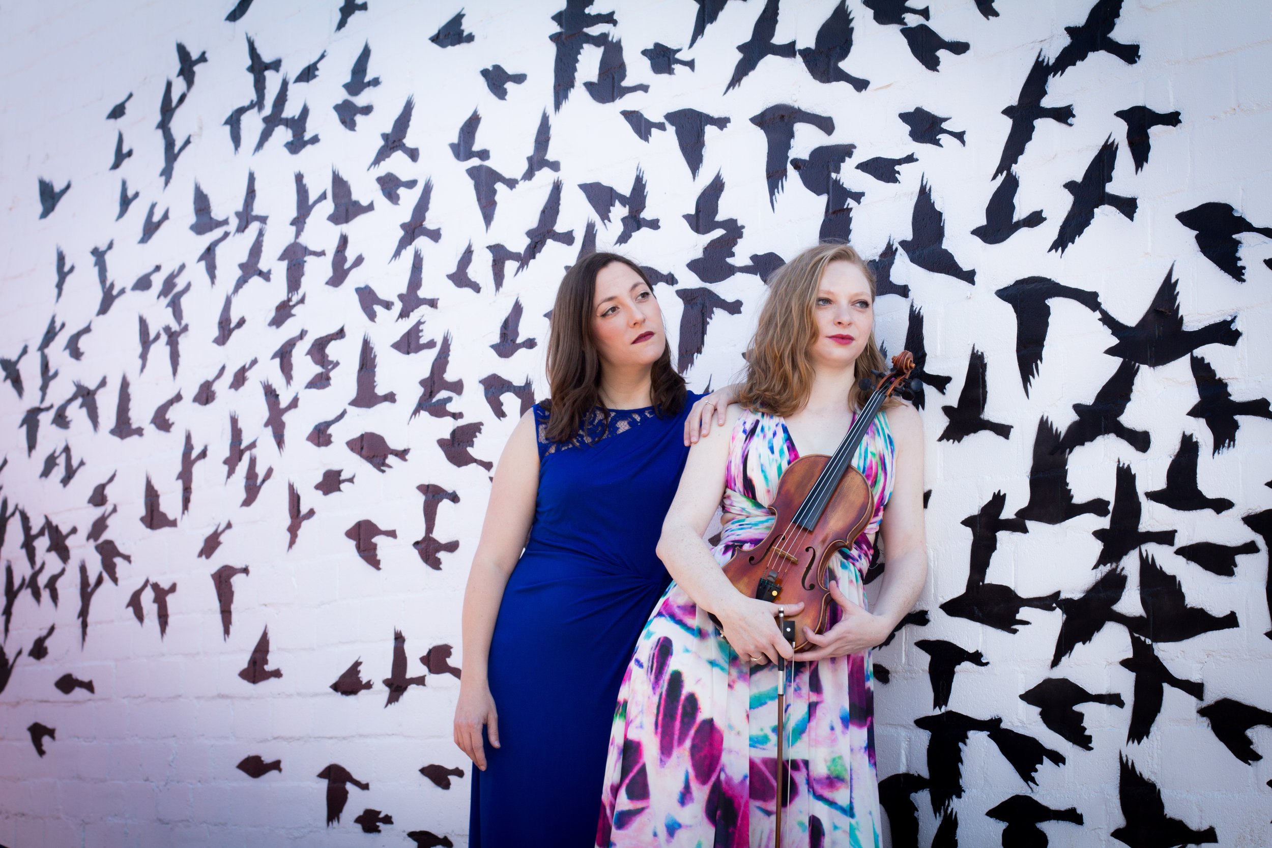Pianist Aimee Fincher and Violinist Hannah Leland Photo by Keitaro Harada