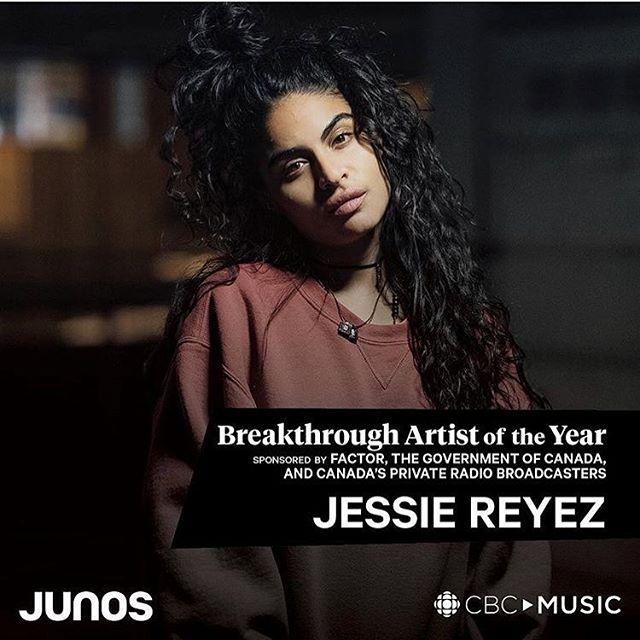 Breakthrough Artist Of The Year Goes To @JessieReyez 🏆! #JessieReyez #JUNOS