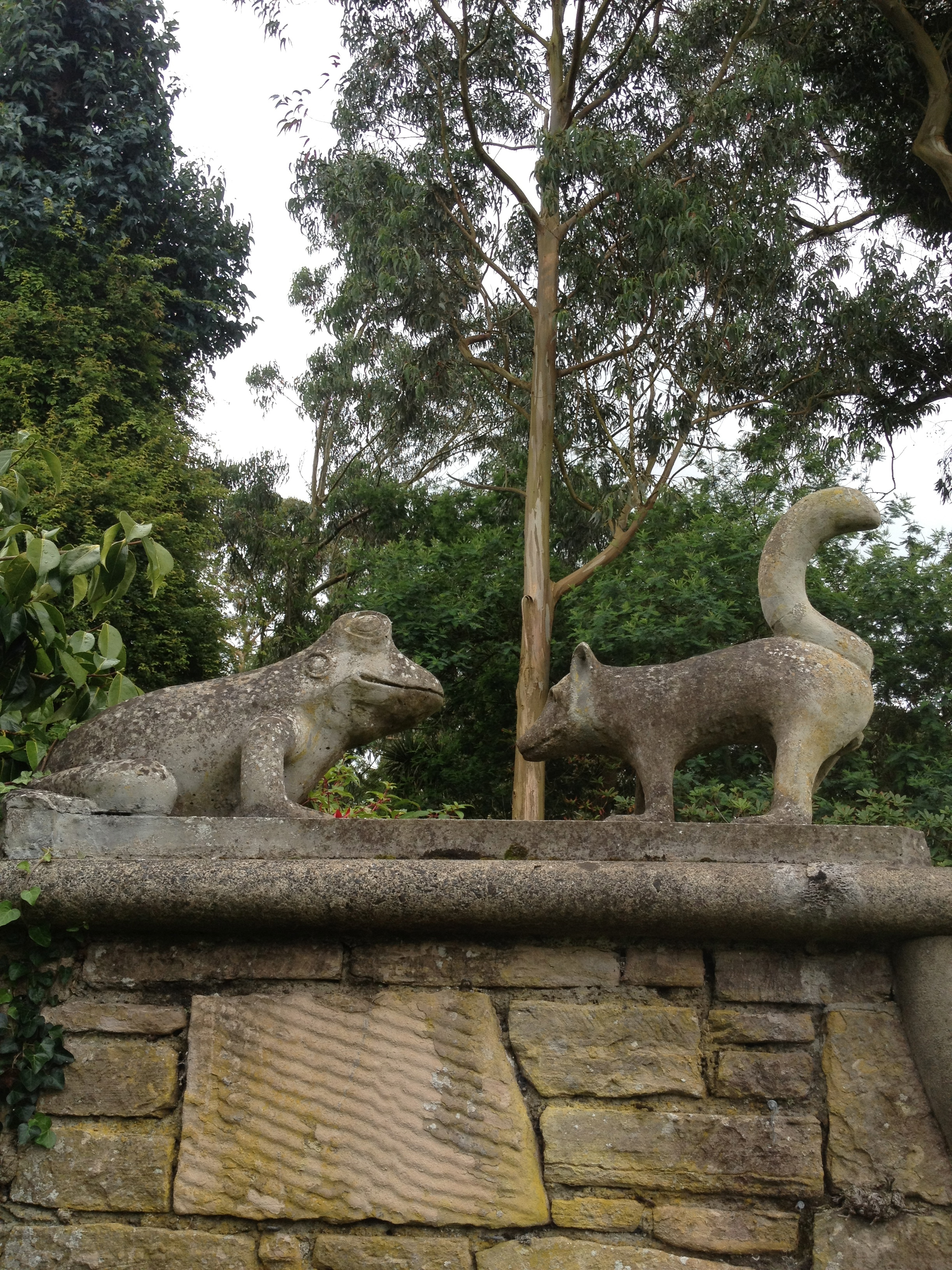 Frog and Fox, Mount Stewart Estate, Northern Ireland