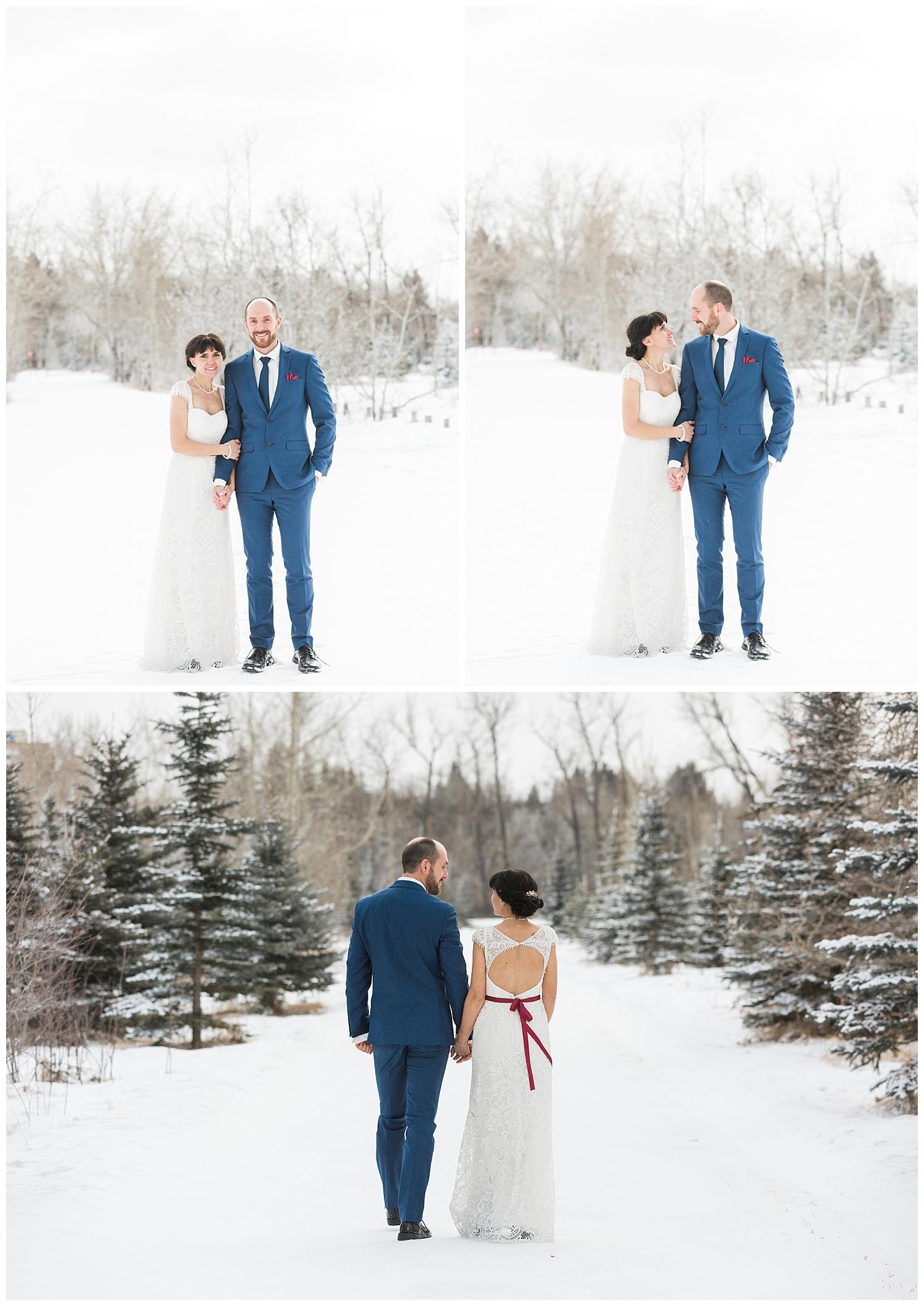 Winter Wedding Calgary Fish Creek YYC Wedding Photographer