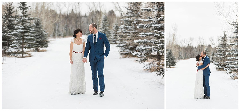 Winter Elopement Calgary Fish Creek YYC Wedding Photographer Sarah Beau Photo