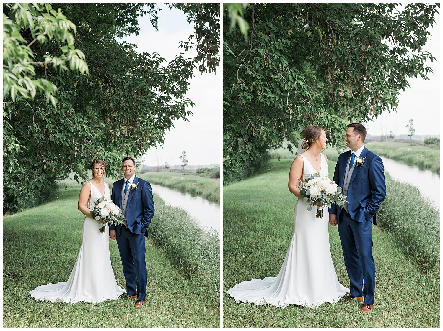 Real Alberta Farm Wedding Bride & Groom