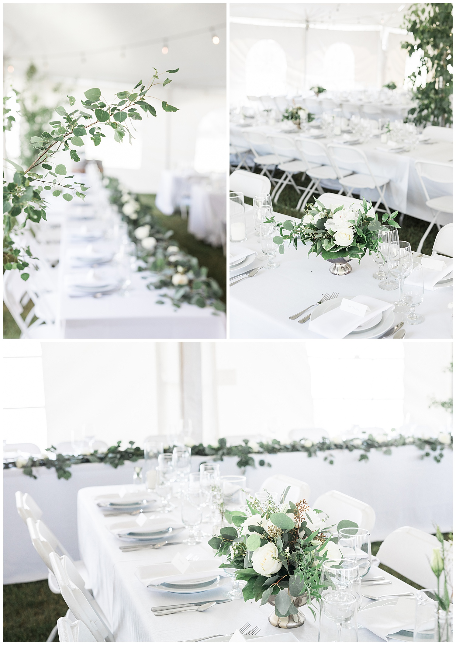 Real Alberta Farm Wedding Reception Decor