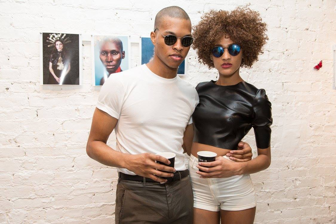 JONEI Talent Scott Camaran and Suliya Gisele, enjoy the attention received at The Nine Studios Summer Event attended by fashion photographers, models, stylists, DJ's  and other NYC creative enthusiasts.