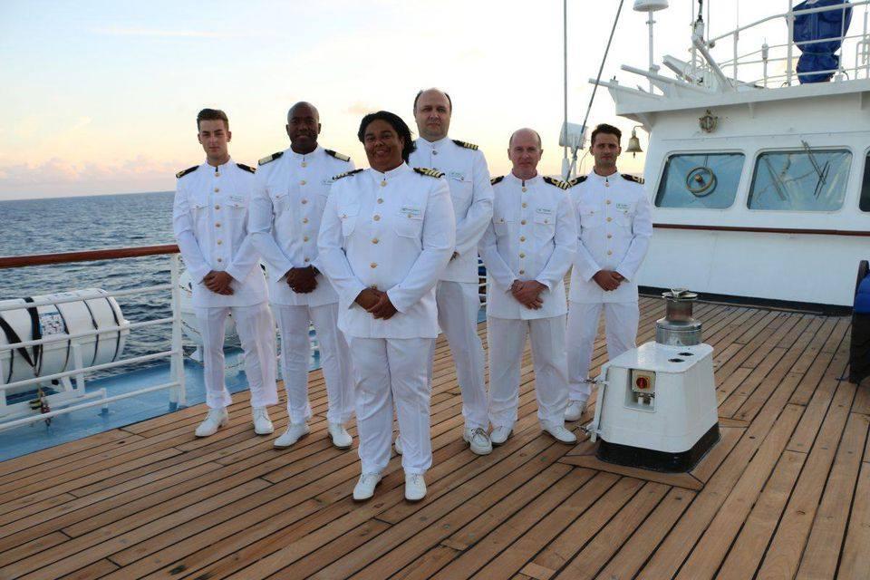 Captain Bennett and her Senior Staff