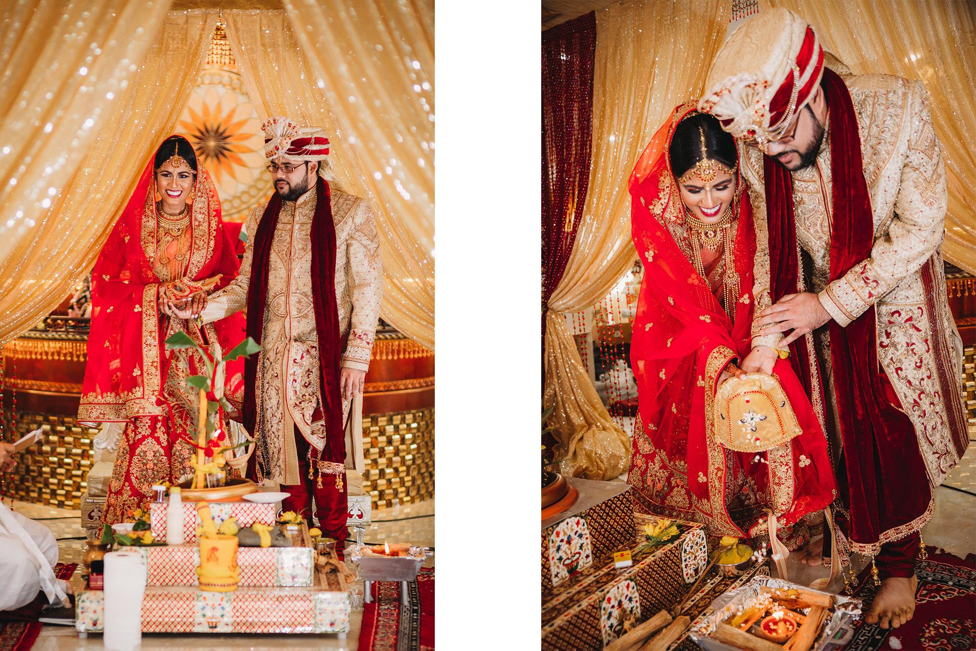 Hindu Wedding Ceremony at Lakshmi Narayan Temple