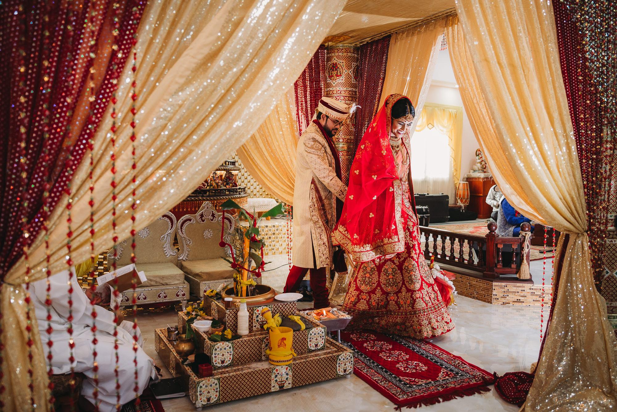 Trinidad wedding photography at lakshmi narayan temple