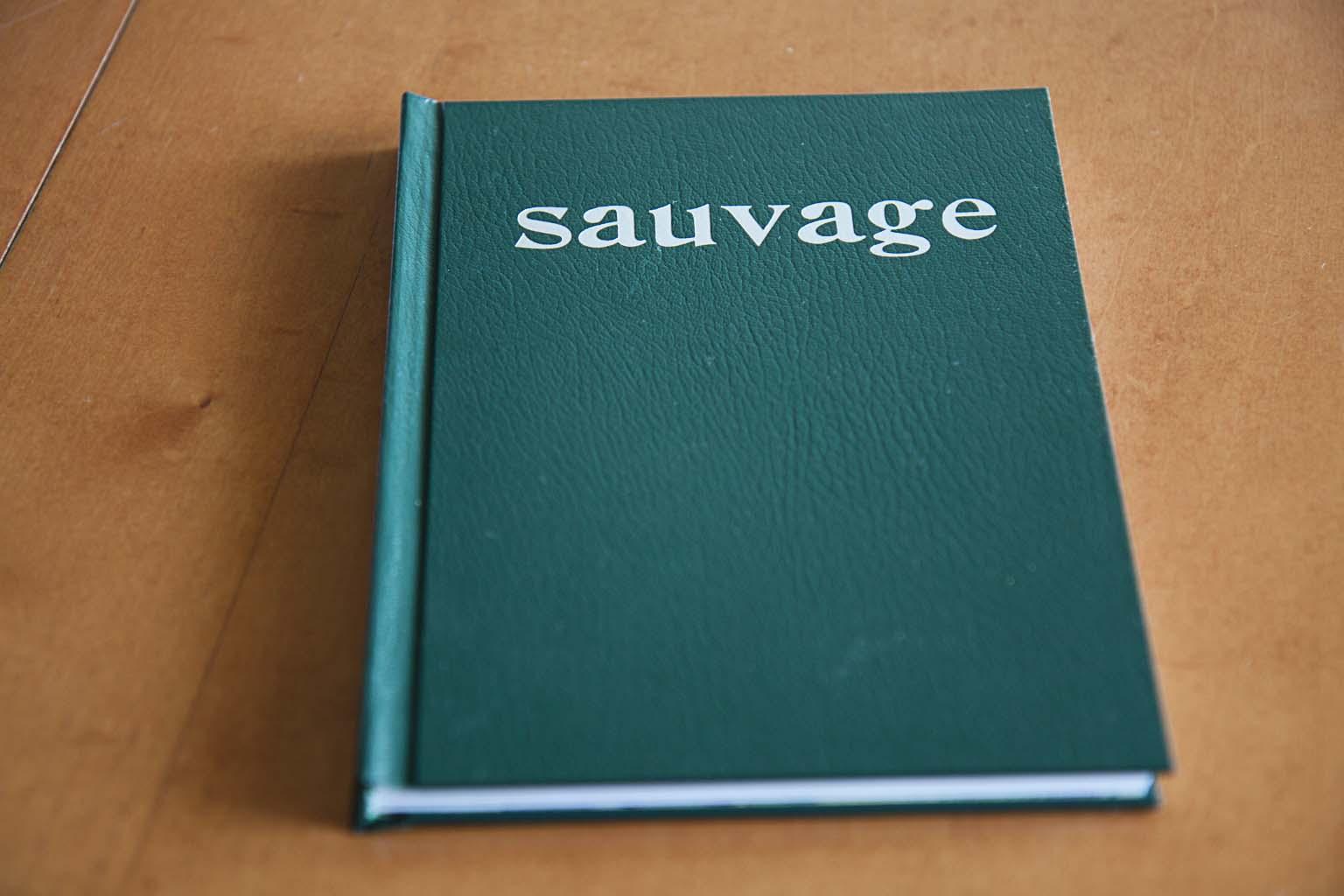 Sauvage. Fotolibro colectivo realizado el 20 de marzo de 2014 en el taller de fotolibros organizado por el Photobookclub Madrid en colaboración con la Imprenta Municipal - Artes del Libro.