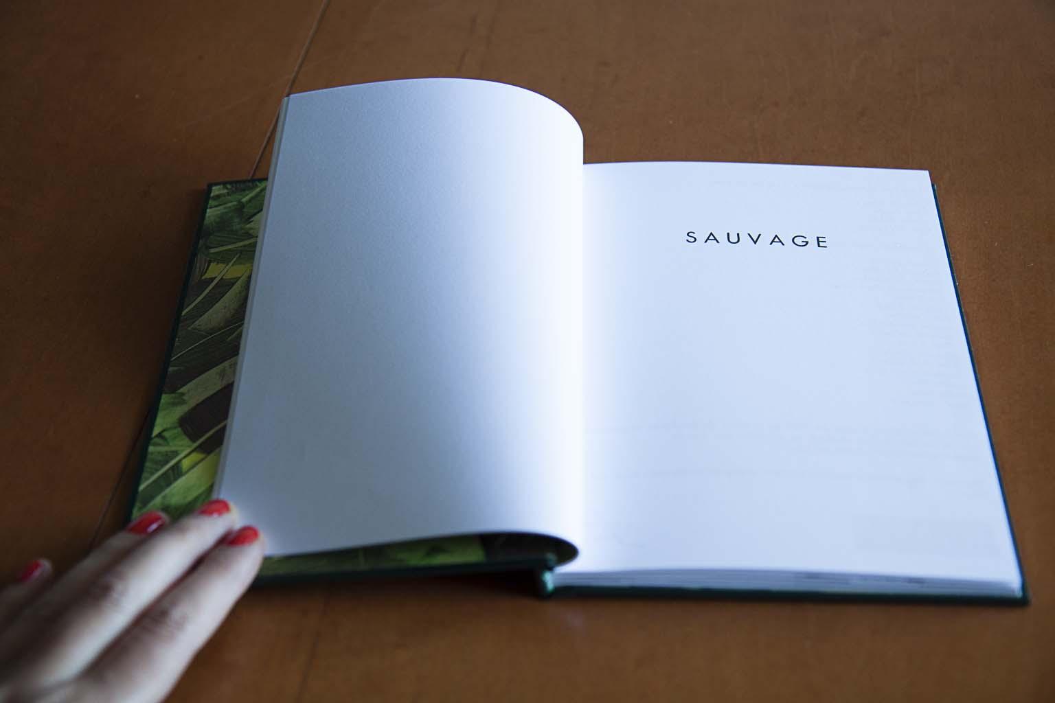 Sauvage. Fotolibro colectivo r  ealizado el 20 de marzo de 2014 en el taller de fotolibros organizado por el Photobookclub Madrid en colaboración con la Imprenta Municipal - Artes del Libro.