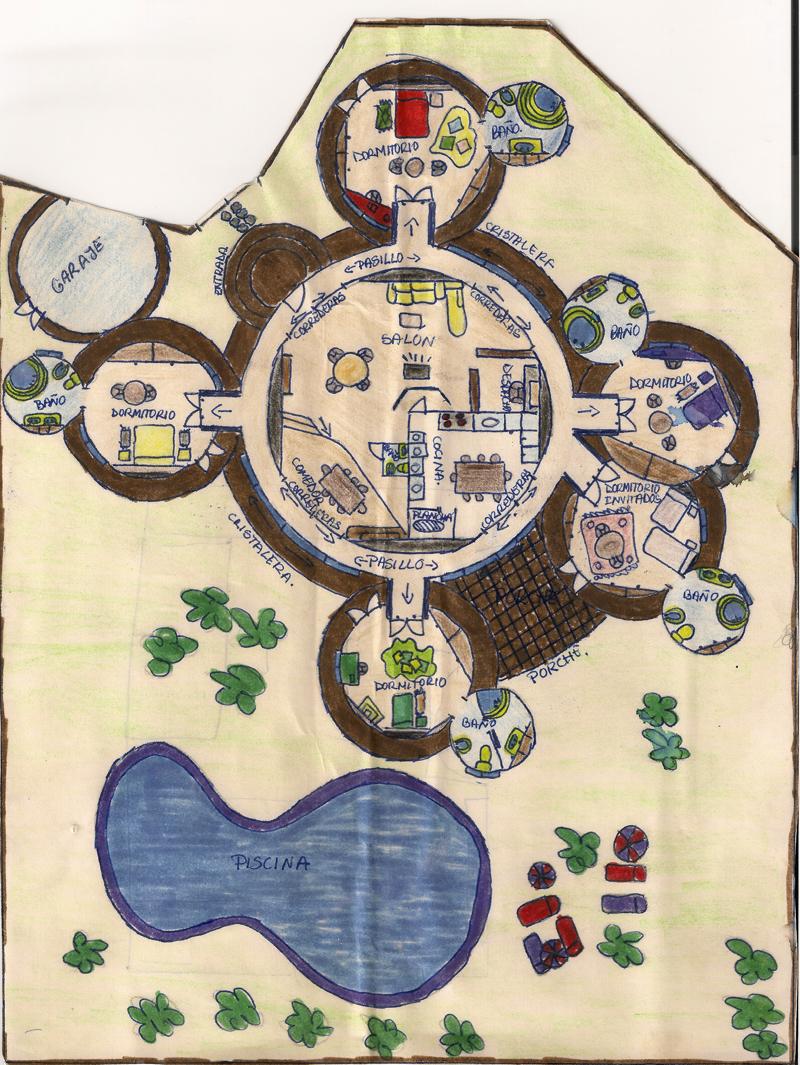 Casa circular diseñada por Ana Zaragoza siendo una niña.