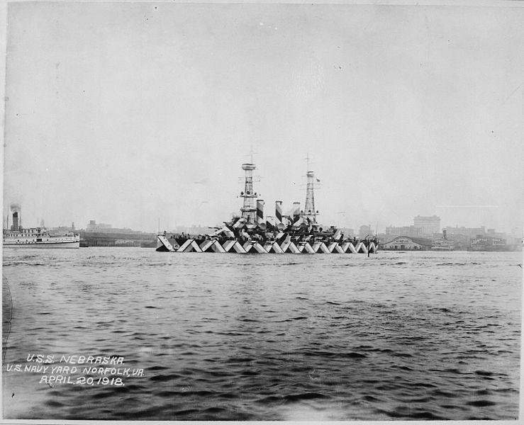 USS Nebraska, 1918.