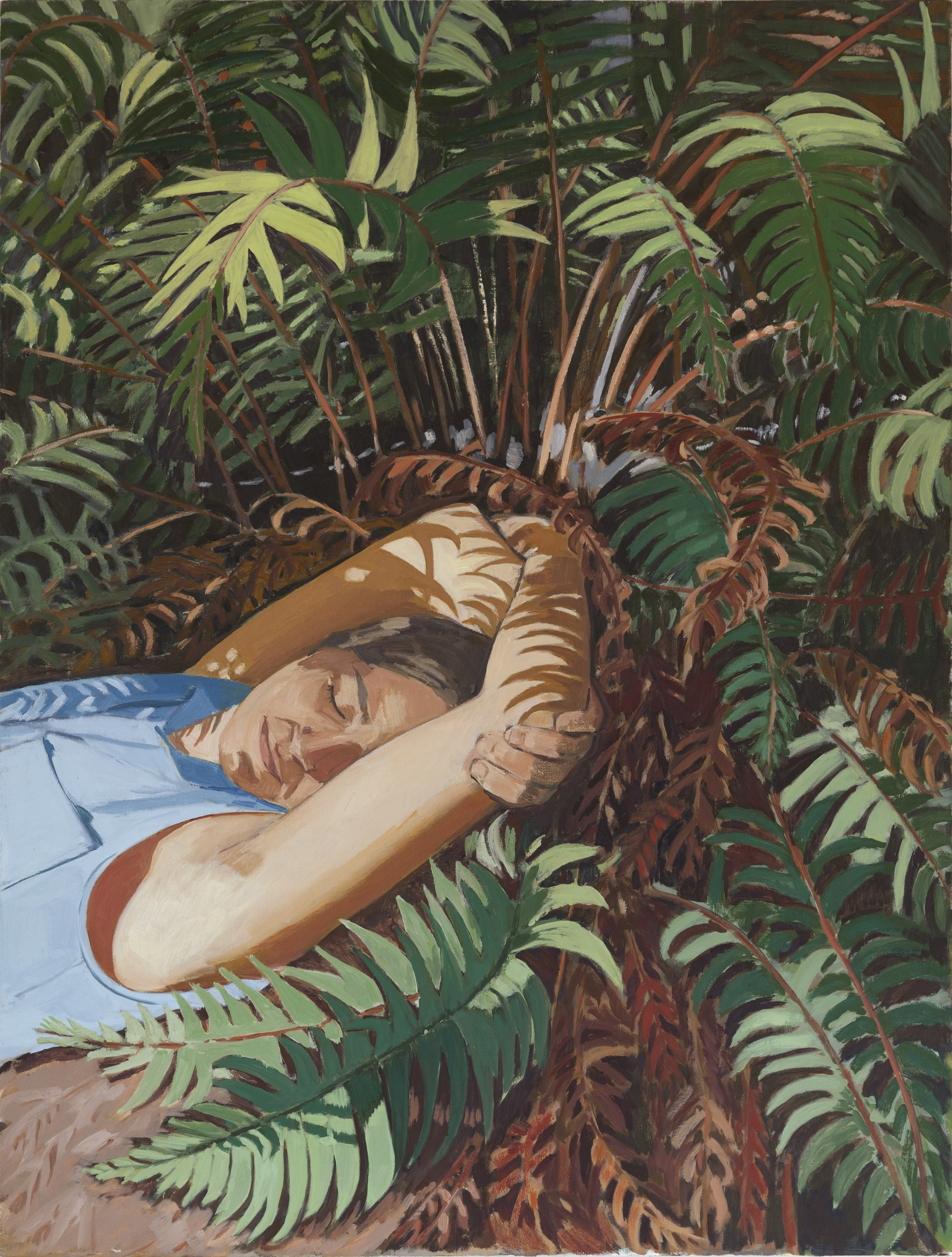 """Birthday with the Ferns, 2018, oil on canvas, 48"""" x 36"""", $4,200 (payment plan available)"""