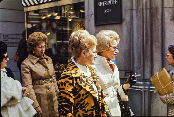 Oxford Street Americans, London 1971