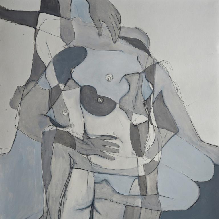 Insurmountable. Oil and graphite on paper 18 X 18″ $575 Framed