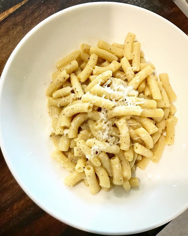 cacio e pepe 🧀 meaning: cheese & pepper  It's one of our *new* pastas!