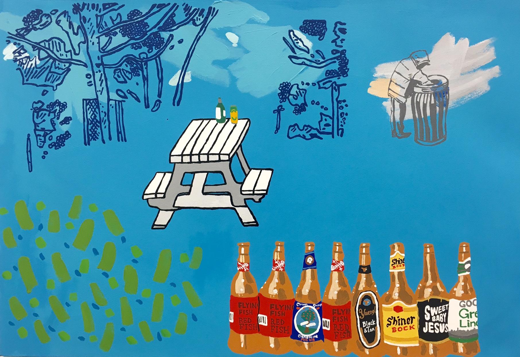 Homeless, Park Bench, Craft Beer
