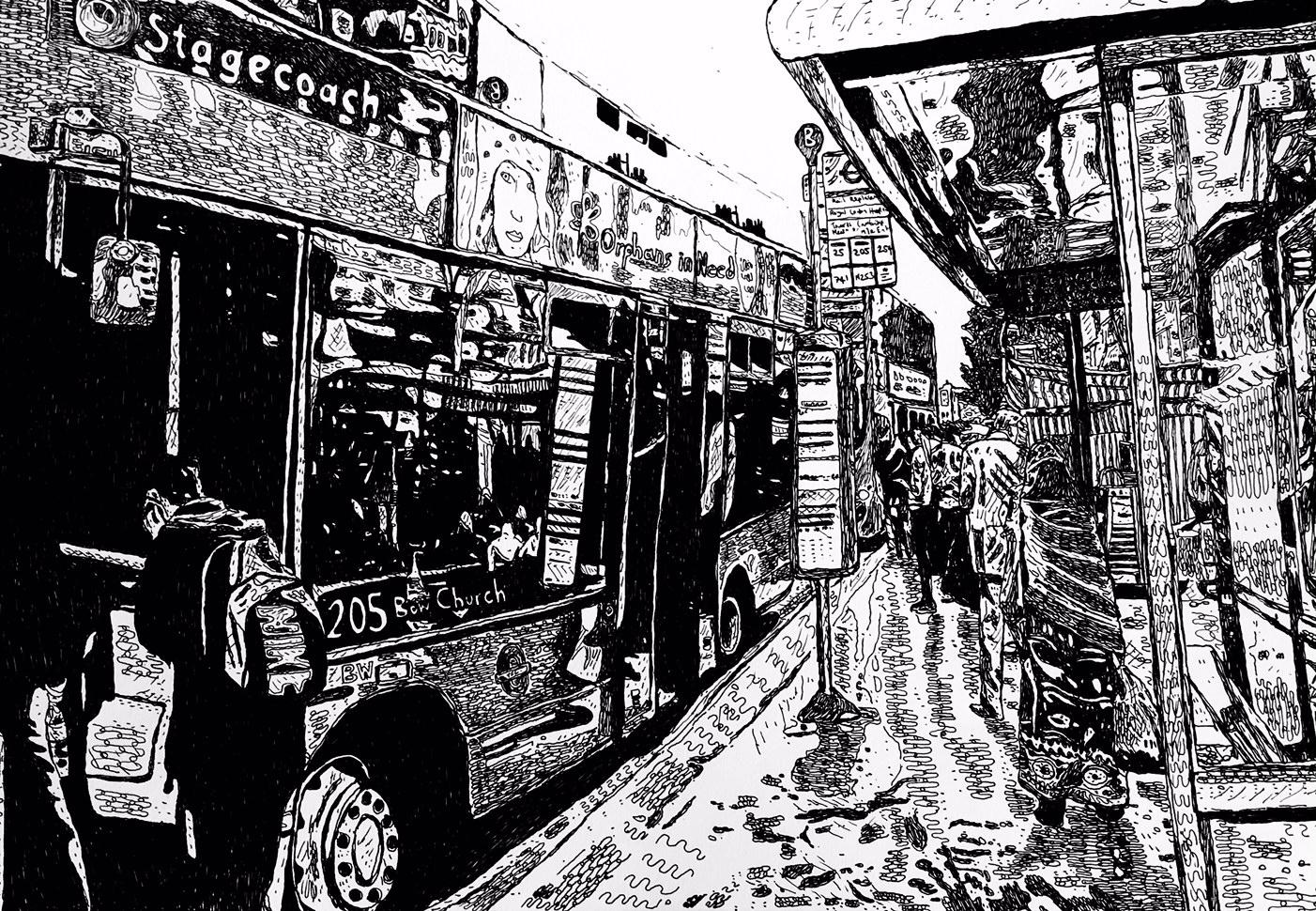 Bus Stop, Whitechapel 2014
