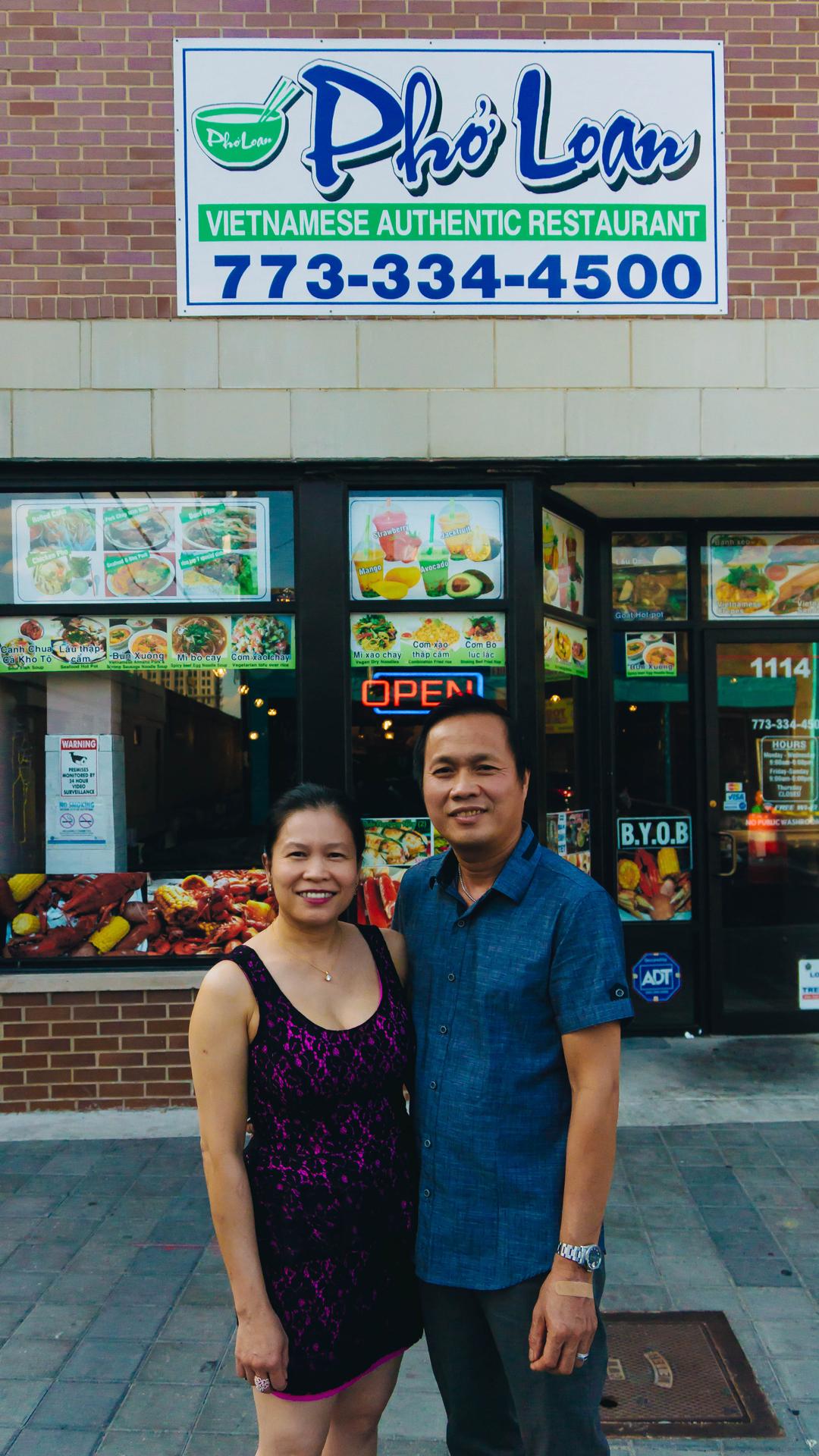 Loan Thị Thu Nguyễn and Quang Minh Lê of Phơ Loan