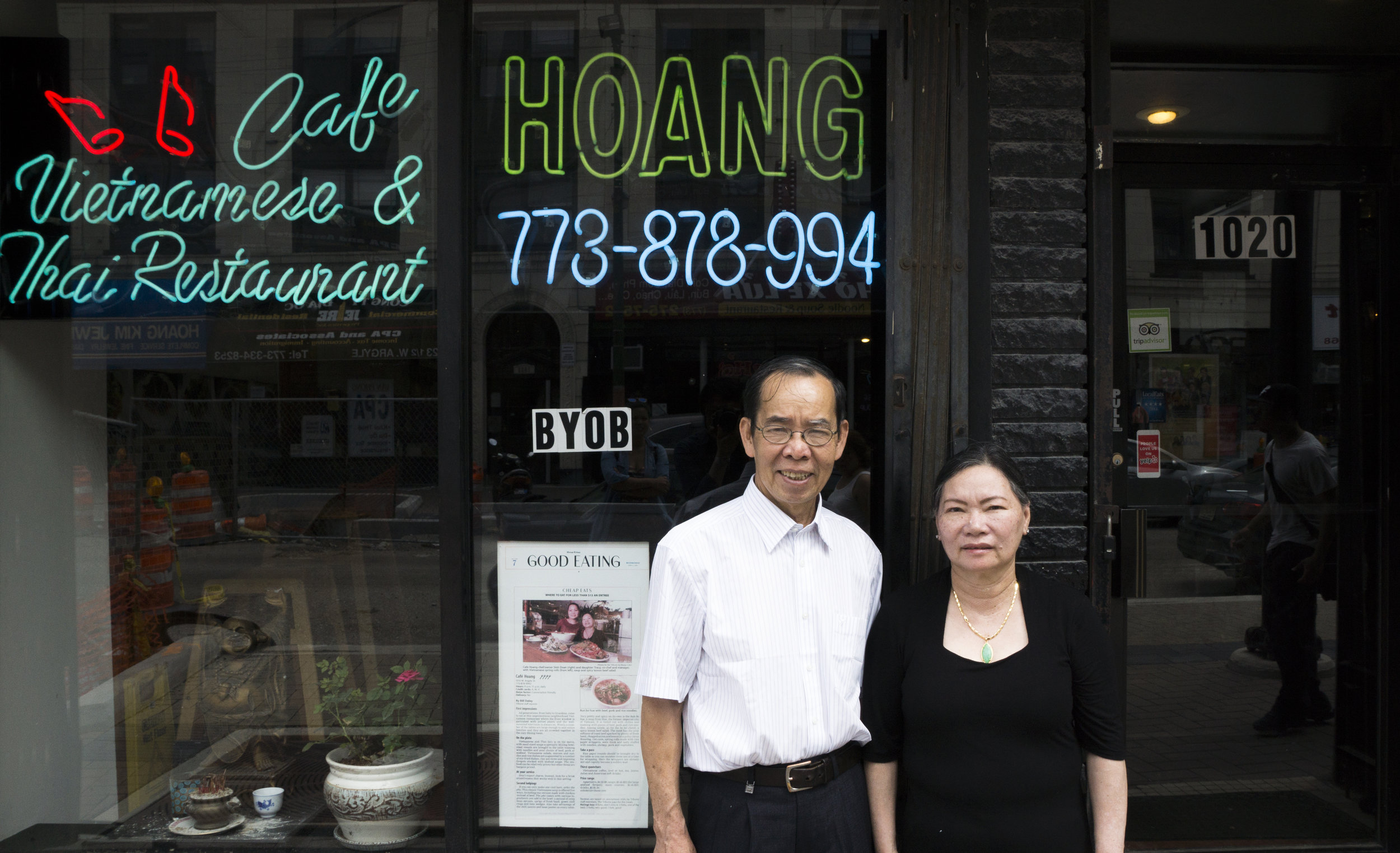 Doan Thi Sinh and her husband,Huang Do of Cafe Hoang