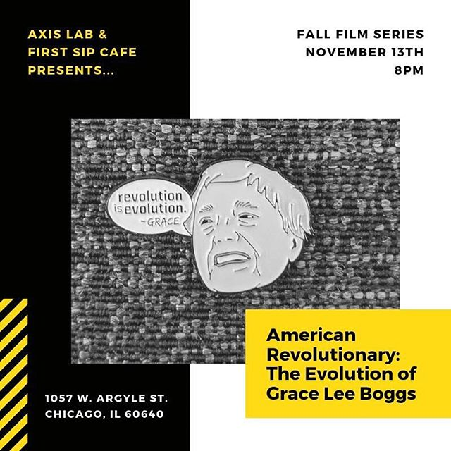"November! The fall film series continues. We had a beautiful turnout for our debut 🎞! Thank you for all those who made it through the rain. For those who couldn't make it, there's still two more chances to catch these film and commune with folks! ""Grace Lee Boggs, 98, is a Chinese American philosopher, writer and activist in Detroit with a thick FBI file and a surprising vision of what an American revolution can be. Rooted in 75 years of the labor, civil rights and Black Power movements, she continually challenges a new generation to throw off old assumptions, think creatively and redefine revolution for our times."""