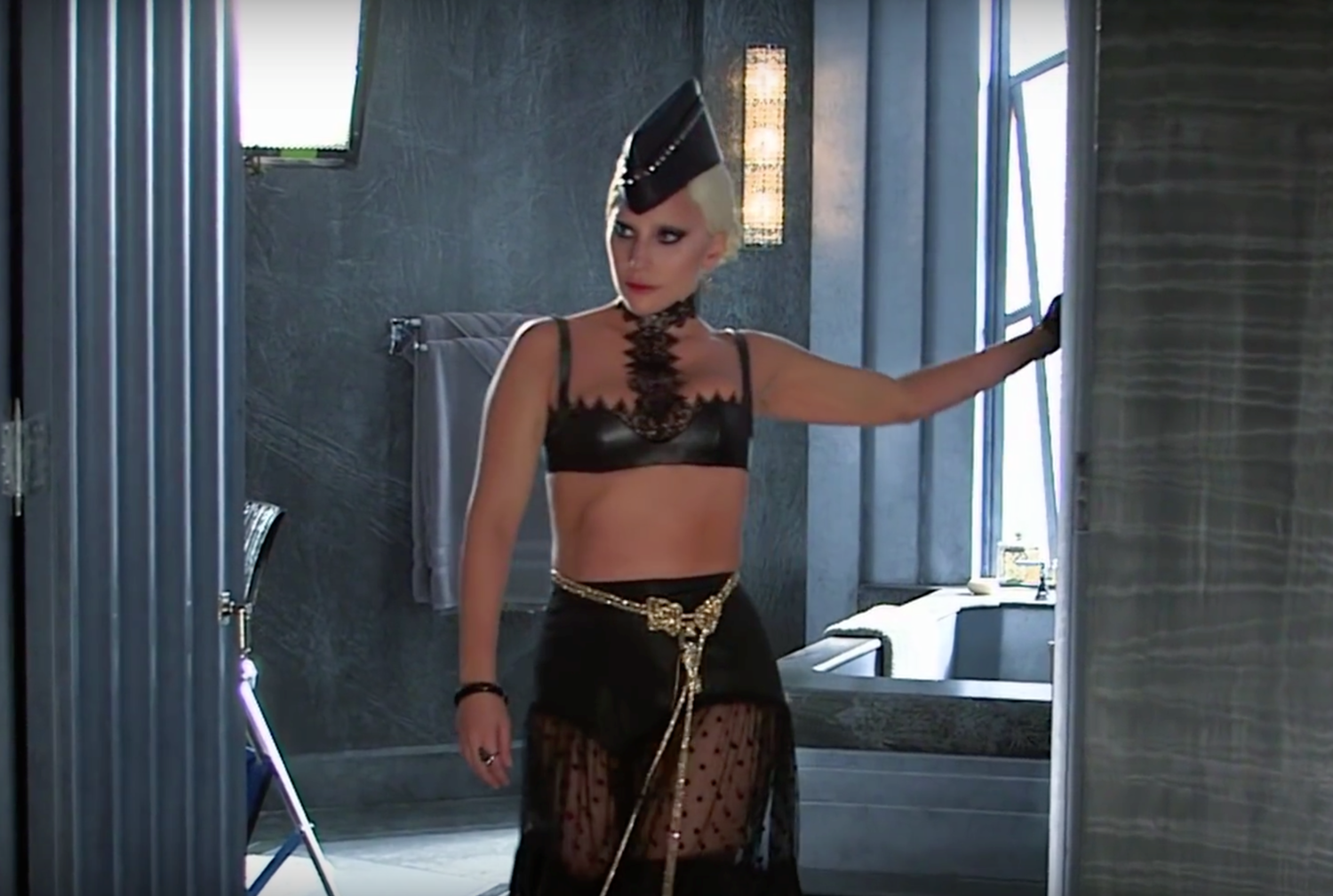 FX TV series American Horror Story Hotel starring Lady Gaga.