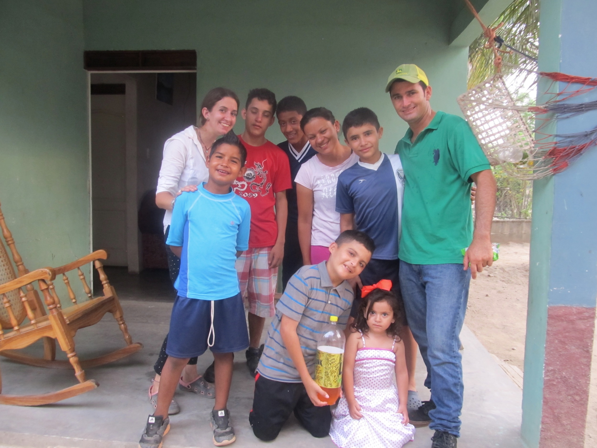 Pancho and friends (including Sergio, in the green) celebrating his birthday in May
