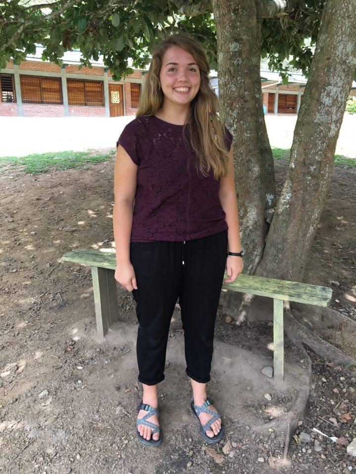 Sarah Bisel, 19    Hometown:  Duluth, MN  University:  Minneapolis Community and Technical College Graduated in May with an Associate in Arts degree  Escuelita role:  2nd/3rd grade teacher