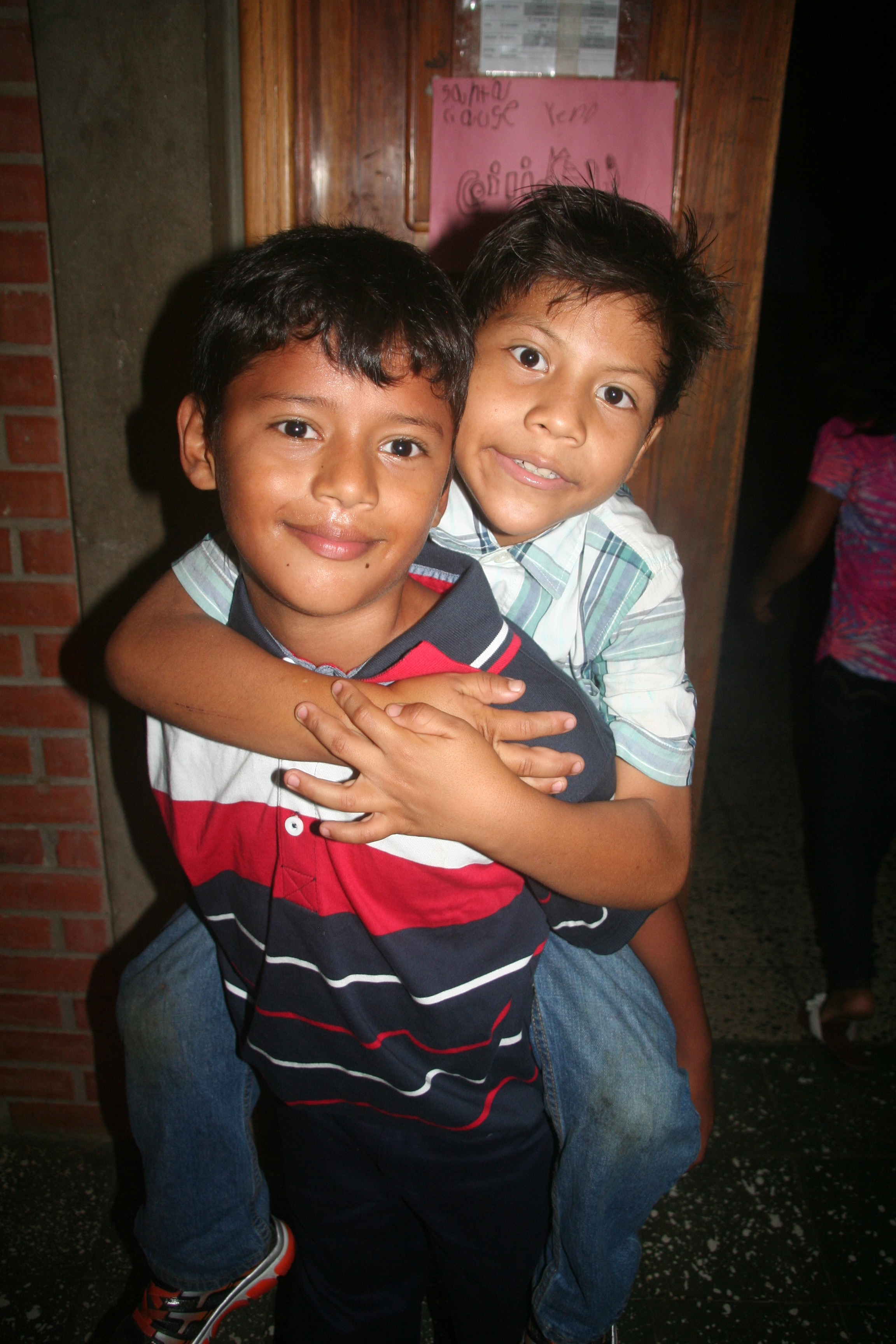 Diego and a friend at the 2015 Christmas party